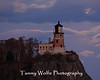 Split Rock Lighthouse lit by the moon