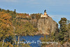 Split Rock Lighthouse with fall foliage