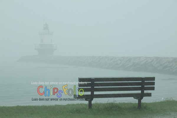 Cold Hard Rain at Spring Point Ledge Light