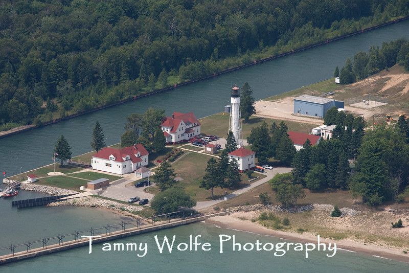 Sturgeon Bay Ship Canal Lighthouse (Aerial View), Wisconsin