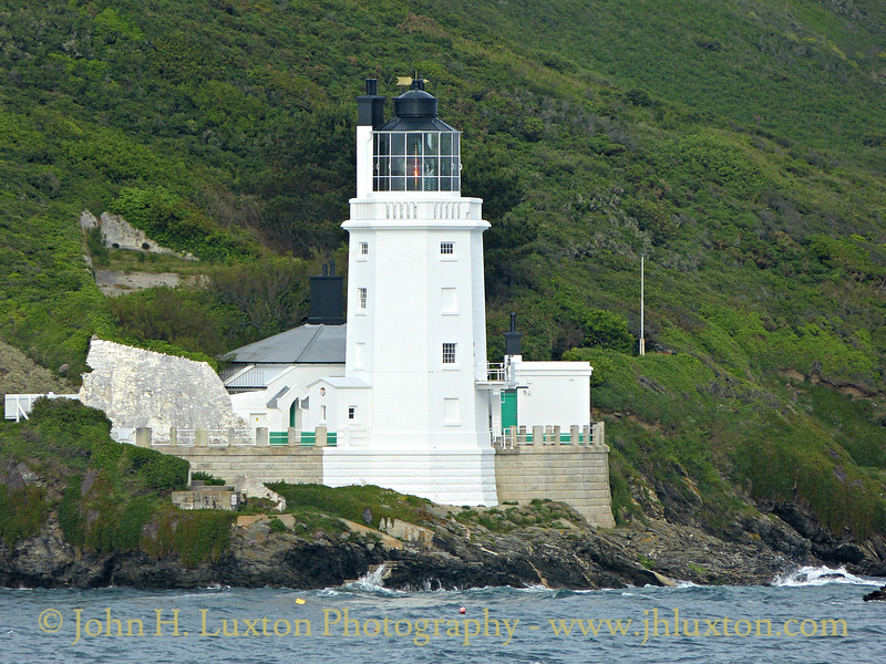 St. Anthony Head Lighthouse, photographed from the MV ATHENA on the evening of June 06, 2012.