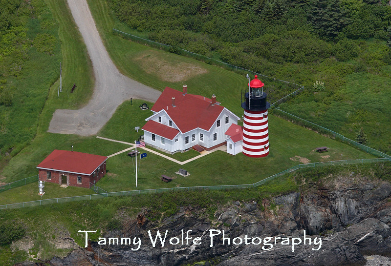 West Quoddy Head Lighthouse (Aerial View)