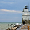 Manitowoc Breakwater in Manitowoc, Wisconsin 1<br /> 4/14/09