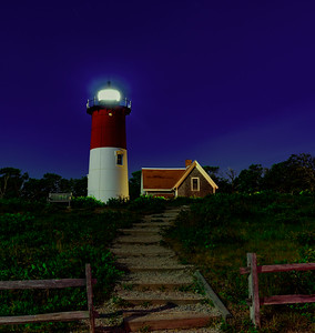 Chatham Light at night