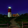 Chatham Light at night
