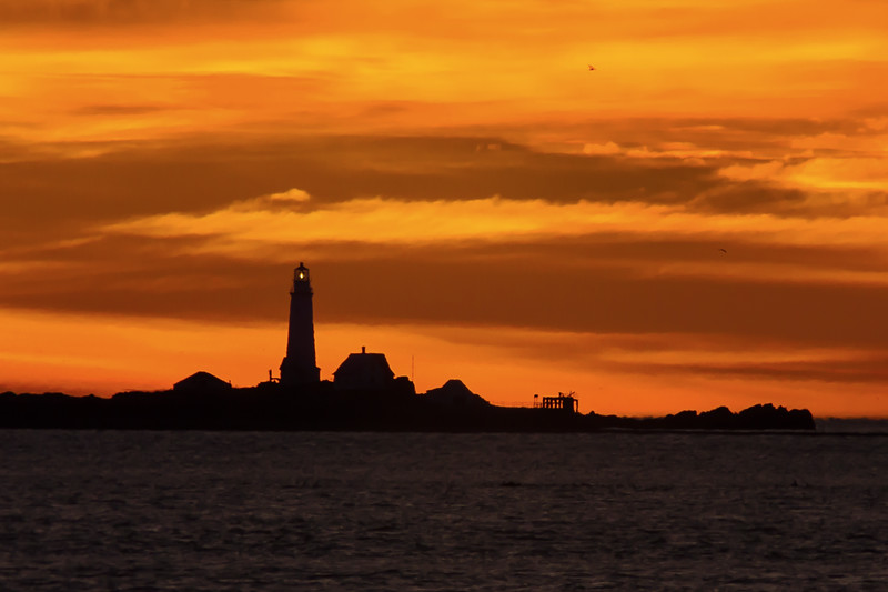 Boston Light at Sunrise