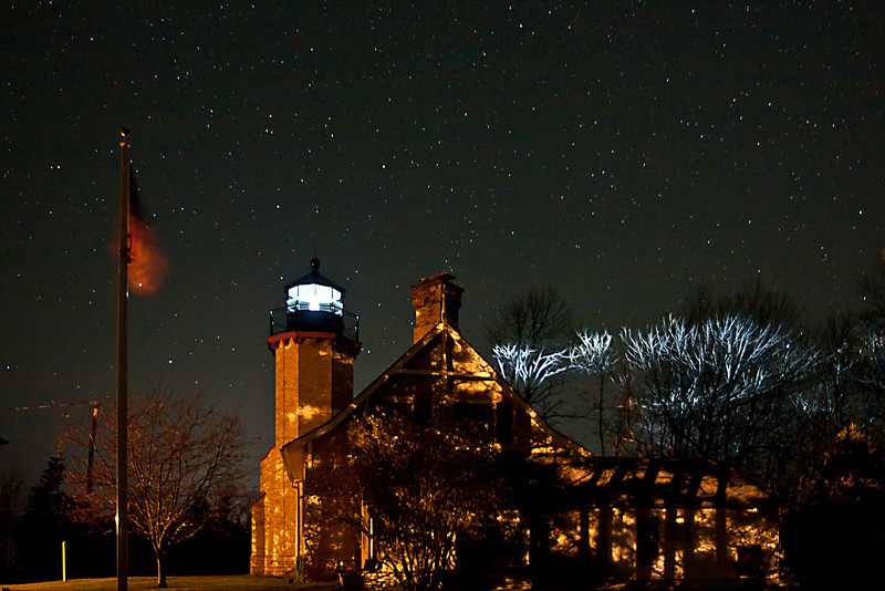Stars over McGulpin Point Light