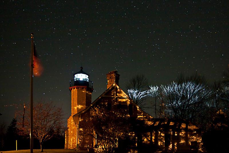 Stars over McGulpin Point Light
