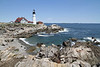 PORTLAND HEAD LIGHT - CAPE ELIZABETH, ME (BACKGROUND - RAM ISLAND LEDGE LIGHT)