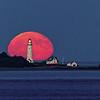 Moonrise Over Boston Light