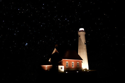 Tawas Point Light under the Stars