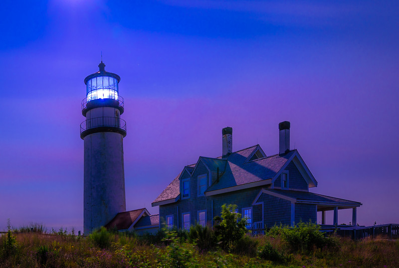 Highland Light , Truro Mass under the full Moon
