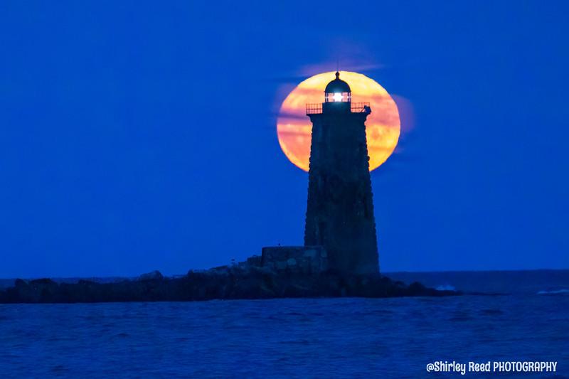 Corn Moon illuminating Whaleback