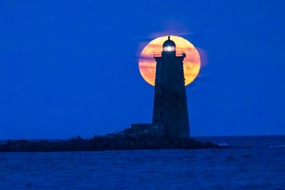 Corn Moon illuminating Whaleback