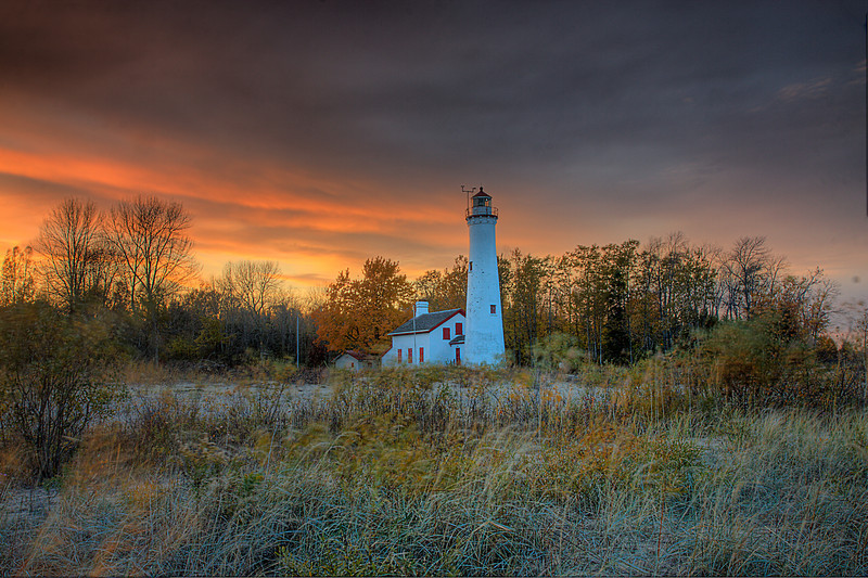 Sturgeon Point Light Sunset