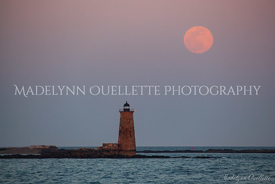 Worm Moon at Whaleback Lighthouse