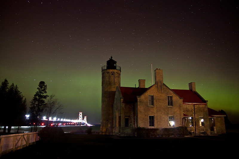 Big Mack and the Old Mackinaw Lighthouse
