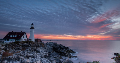 Portland Head Lighthouse  - October sunrise