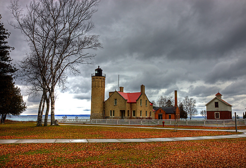 Old Mackinaw Lighthouse Fall
