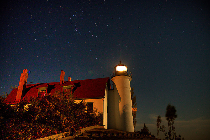 Orion over Point Betsie Lighthouse