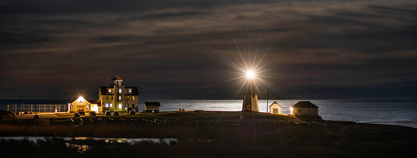 Moon Rising at Point Judith Light