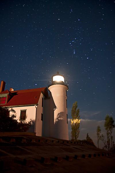 Point Betsie Lighthouse under the Stars