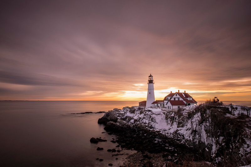 Sunrise at Portland Head Light, Portland, ME