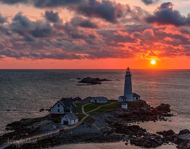 Sunrise over Boston Light