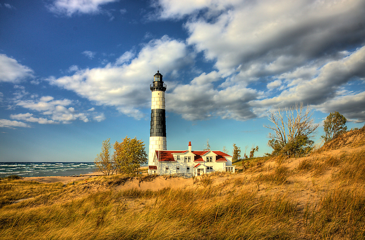 Big Sable Point Lighthouse in the Dunes