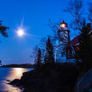 Hunter's Moon at Eagle Harbor Light