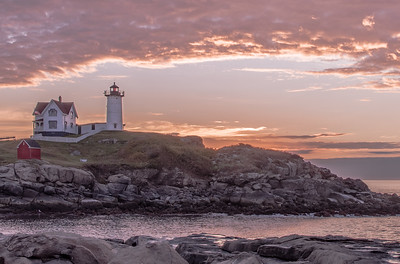 Nubble Lighthouse - October sunrise earlier