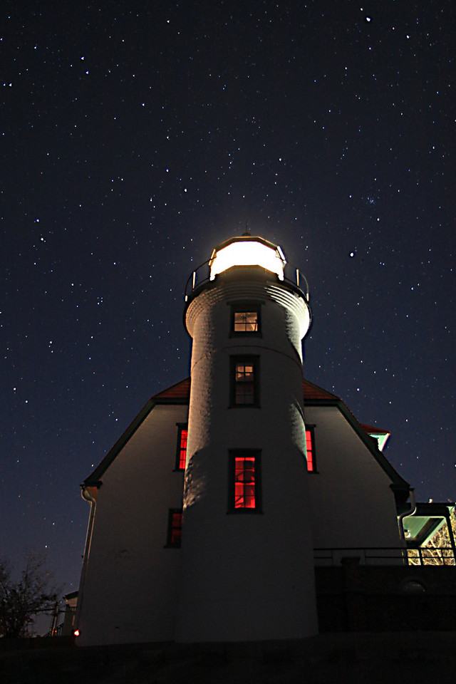 Point Betsie Lighthouse under the Stars