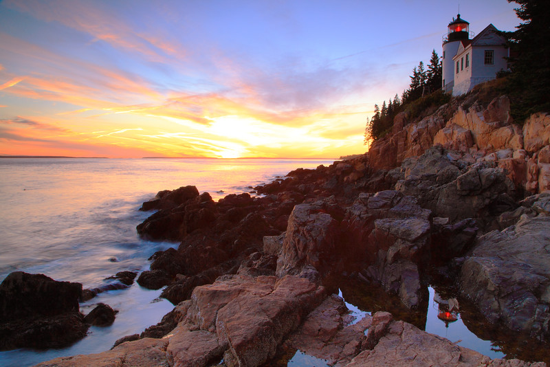 Bass Harbor Lighthouse SunsetSeascape
