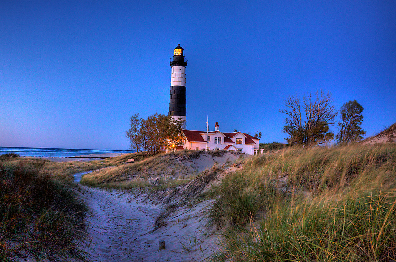 Dusk at Big Sable Point