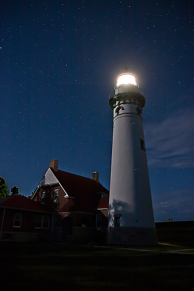 Suel Choix Point Lighthouse under the Stars