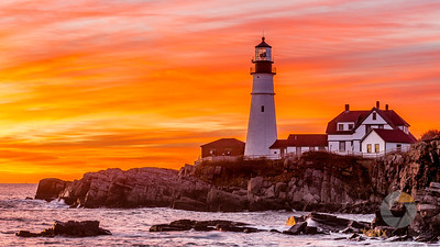 Sunrise At Portland HeadLight