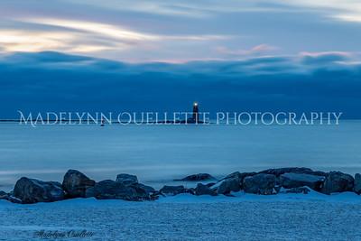 Whaleback Lighthouse at Blue Hour