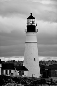 Portland Light in Black and White