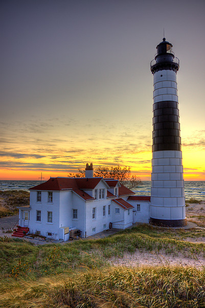Big Sable Point Sunset verticle
