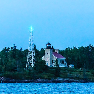 Copper Harbor Lighthouse in the Evening