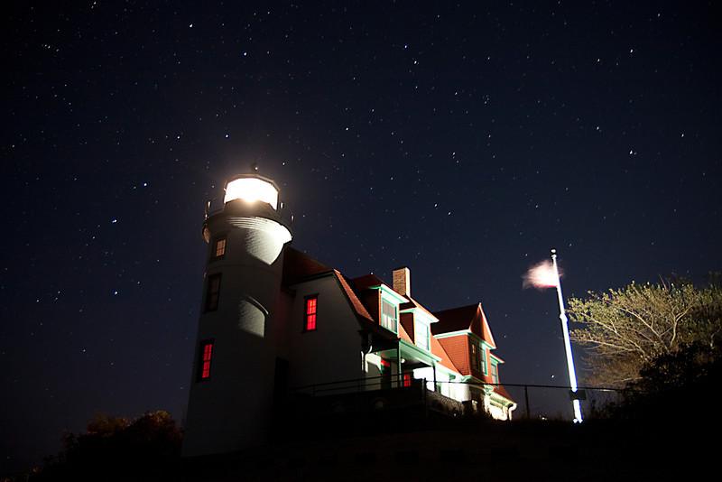 Point Betsie Light under the Stars