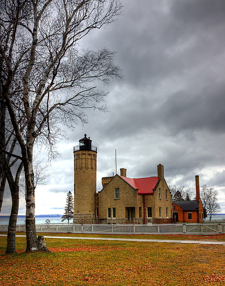 Fall at Old Mackinaw Light
