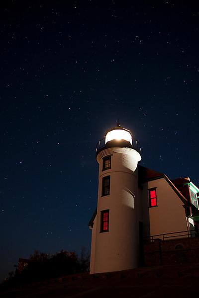 The Big Bipper over Point Betsie Light