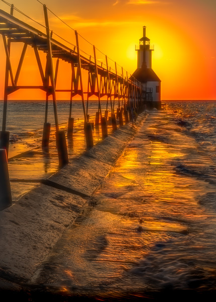 St Joseph Lighthouse at Sunset