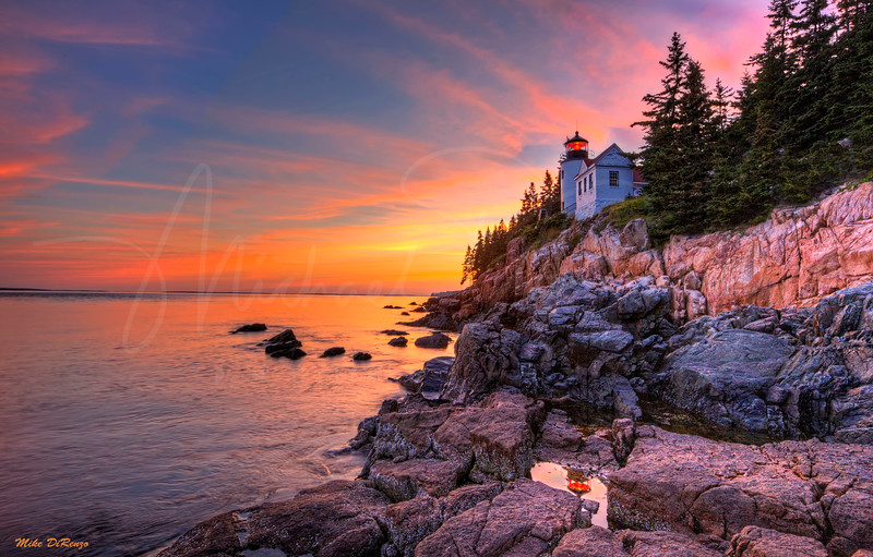 Bass Harbor Lighthouse Sundown 1306 w40
