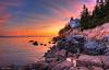Bass Harbor Lighthouse Sundown 1306 w40