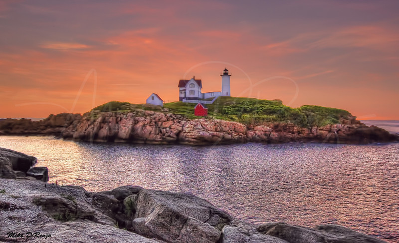 Nubble Lighthouse at Dawn  9652 w29