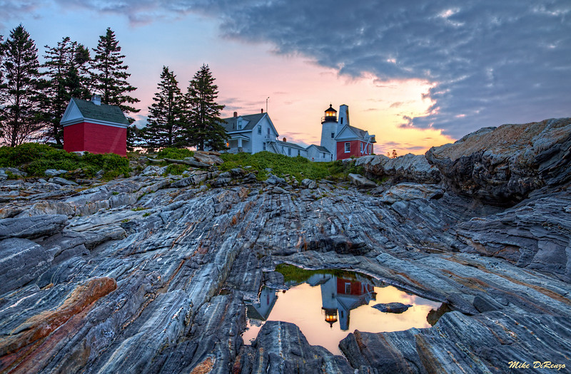 Reflections of Pemaquid Point 1188 w38