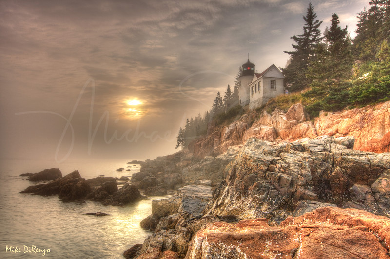 Foggy Acadia Sunset   8601   w21