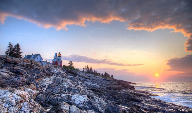 Sunrise on Pemiquid Point 1234 w38